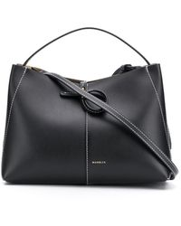 Wandler Ava Tote Leather Bag - Black