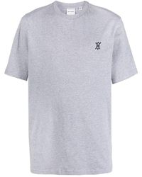 Daily Paper Logo Cotton T-shirt - Gray