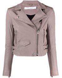 IRO Ashville Leather Jacket - Pink