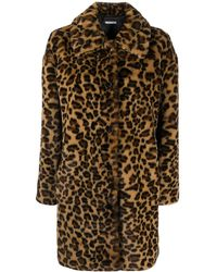 P.A.R.O.S.H. Leopard-print Single Breasted Coat - Brown
