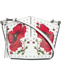 Alexander McQueen Leather Mini Bucket Bag - White