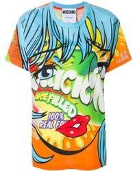 Moschino - #eyes Cotton T-shirt - Lyst
