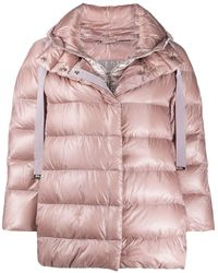 Herno Layered Puffer Jacket - Pink