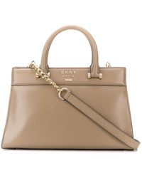 DKNY Ava Leather Bag - Natural