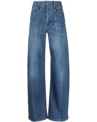 Chloé Jeans a gamba ampia - Blu