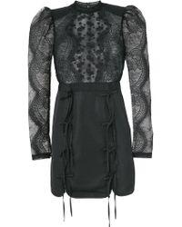Self-Portrait - Fine Lace Applique Dress - Lyst