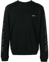 Off-White c/o Virgil Abloh - 3d Diagonal Lines Crewneck Sweatshirt - Lyst