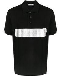 Givenchy Logo-embossed Polo Shirt - Black