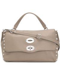 Zanellato Small Postina Leather Bag - Gray