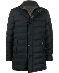 Moorer Padded Zip-up Coat - Blue