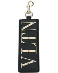 Valentino - Vltn Leather Key Ring - Lyst