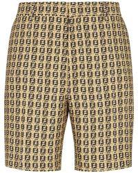 Fendi Shorts con motivo FF - Marrone