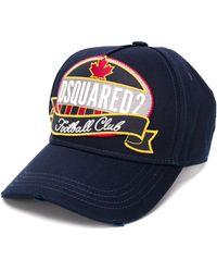 DSquared² Cappello da baseball con ricamo - Blu