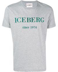 Iceberg - Logo Print Cotone T-shirt - Lyst