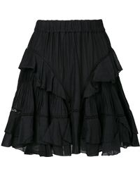 Étoile Isabel Marant - Varese Embroidered Skirt - Lyst
