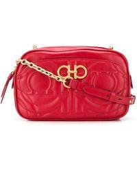 Ferragamo Small Leather Bag - Red