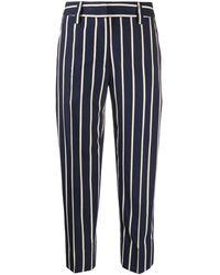Seventy Pantalone Gessato - Blu