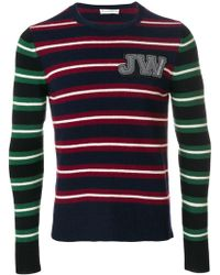 JW Anderson - Crew Neck Jumper With Horizontal Stripes - Lyst