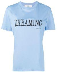 """Alberta Ferretti T-shirt azzurra """"Dreaming"""" - Blu"""
