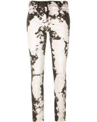 Gucci - Skinny Embroidered Jeans - Lyst