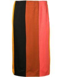 M Missoni - Striped Pencil Skirt - Lyst