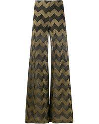 M Missoni Zigzag Wide-leg Trousers - Black