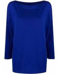 Daniela Gregis Slouchy Fine Knit Wool Sweater - Purple
