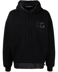 Dolce & Gabbana Felpa con cappuccio DG - Nero