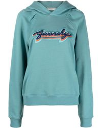 Givenchy Embroidered Logo Hoodie - Blue