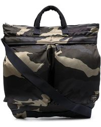 Porter Camouflage-print Zipped Tote Bag - Green