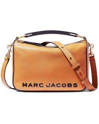 Marc Jacobs Borsa The Soft Box 23 In Pelle - Giallo