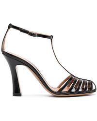 Emporio Armani T-bar Heeled Court Shoes - Black
