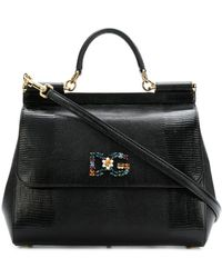 Dolce & Gabbana - Sicily Printed Leather Bag - Lyst