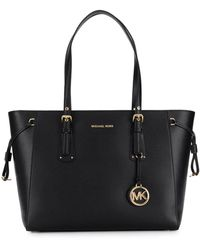 MICHAEL Michael Kors Voyager Leather Tote Bag - Black