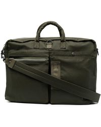 Porter Zipped Laptop Bag - Green