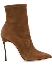 Casadei Ankle-length Pointed Boots - Brown