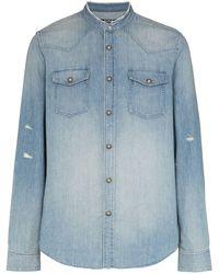 Balmain Camicia denim - Blu