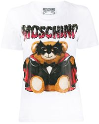 Moschino Bat Teddy Bear print T-shirt - Bianco
