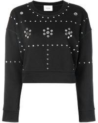 Dondup - Black Crop Sweatshirt - Lyst