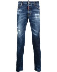 DSquared² - Cool Guy Slim-fit Distressed Jeans - Lyst