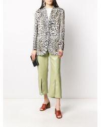 Ermanno Scervino Leopard Print Blazer - White