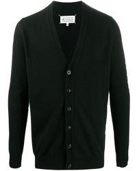 Maison Margiela V-neck Long-sleeve Cardigan - Black