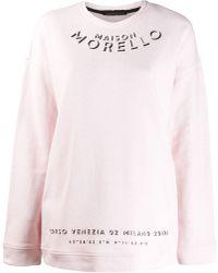 Frankie Morello Logo Print Sweatshirt - Pink