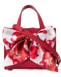 Ferragamo - Oversized Ribbon Front Shoulder Bag - Lyst