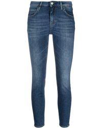 Haikure Jeans crop a vita bassa - Blu
