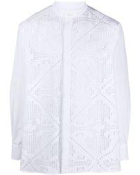 Valentino - Pointelle-knit Cotton Shirt - Lyst