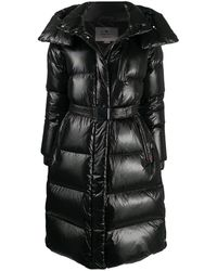 Woolrich Quilted Mid-length Down Coat - Black