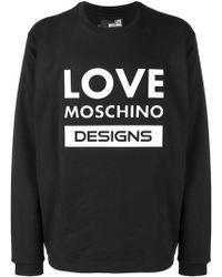 Love Moschino - Printed Sweatshirt - Lyst