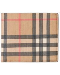 Burberry Check Bifold Wallet - Natural