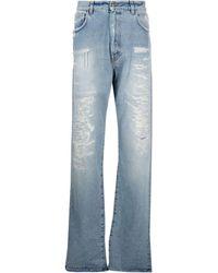 424 Distressed Straight-leg Jeans - Blue